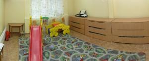 игровая детская комната и спальня с трехярусными кроватками