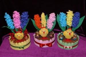 птицы из конфет